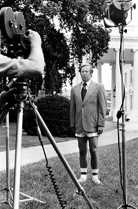 Bob Pierpoint at the White House